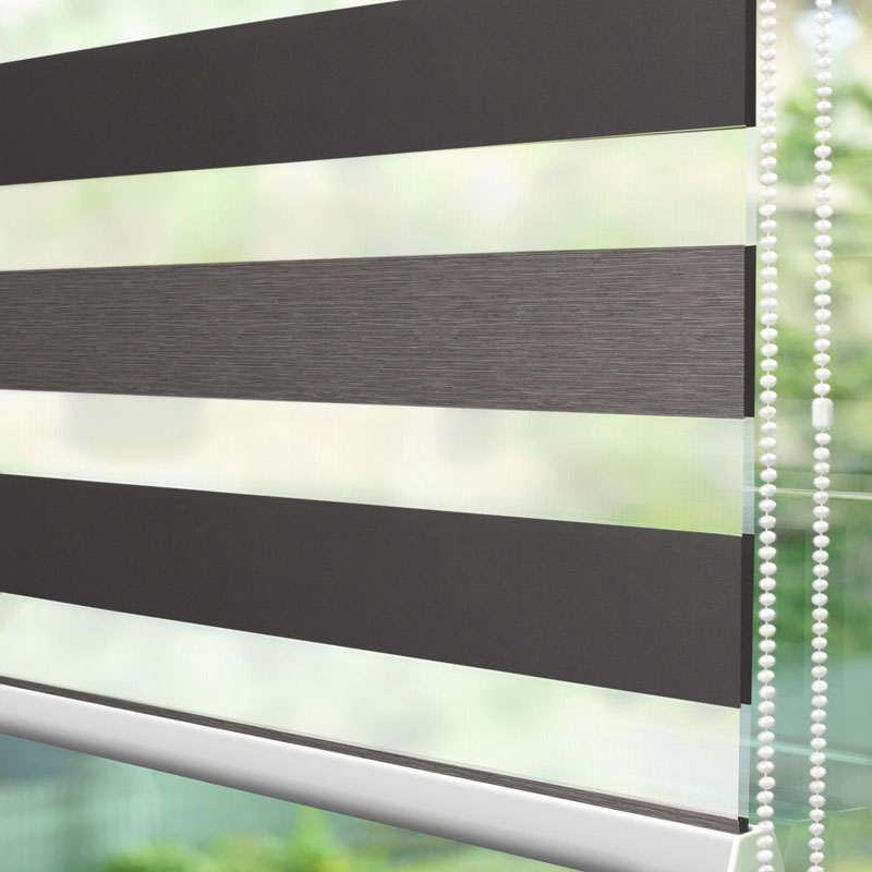 Duo Anthracite Duplex Blinds Chennai Blinds